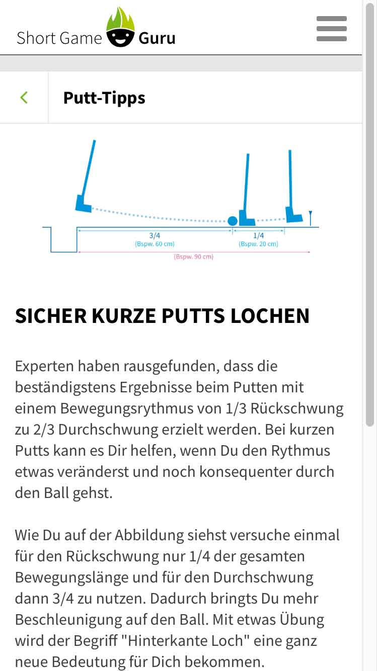 Short Game Guru Tipp Kurze Putts lochen